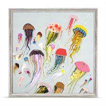 Oopsy Daisy Floating Jellyfish Mini Canvas Art Print - 6x6