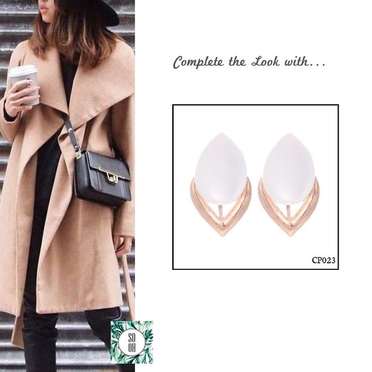 Ref: CP023 Medidas: 2.6 cm x 1.6 cm So Oh: 4.99  #sooh_store #onlinestore #style #inspiration #styleinspiration #brincos #earrings #fashion #shoponline #aw2016 #aw1617 #winterstyle