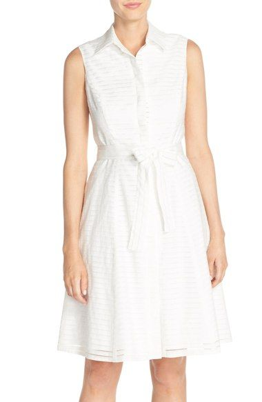 Donna Ricco Shadow Stripe Shirtdress available at #Nordstrom