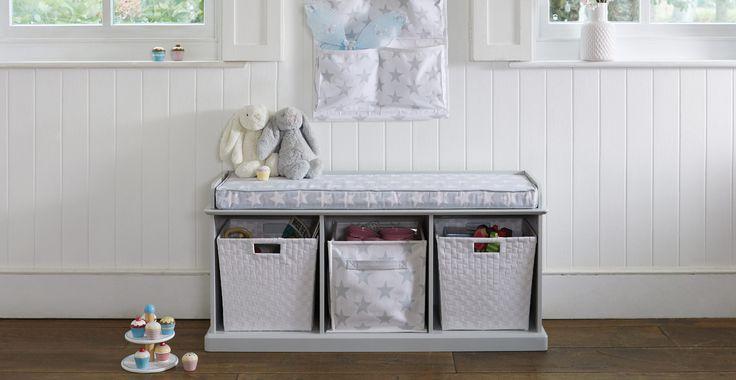 Abbeville Storage Bench, Cloud Grey