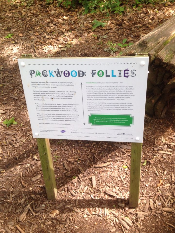 Packwood Follies. Quirky little features dotted around the gardens and woodland at Packwood