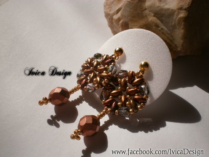 Chocolate beaded earring <3 Follow me on my Facebook Page:https://www.facebook.com/IvicaDesign/ Buy my bead jewelrys on:https://porteka.com/hu/ivica#