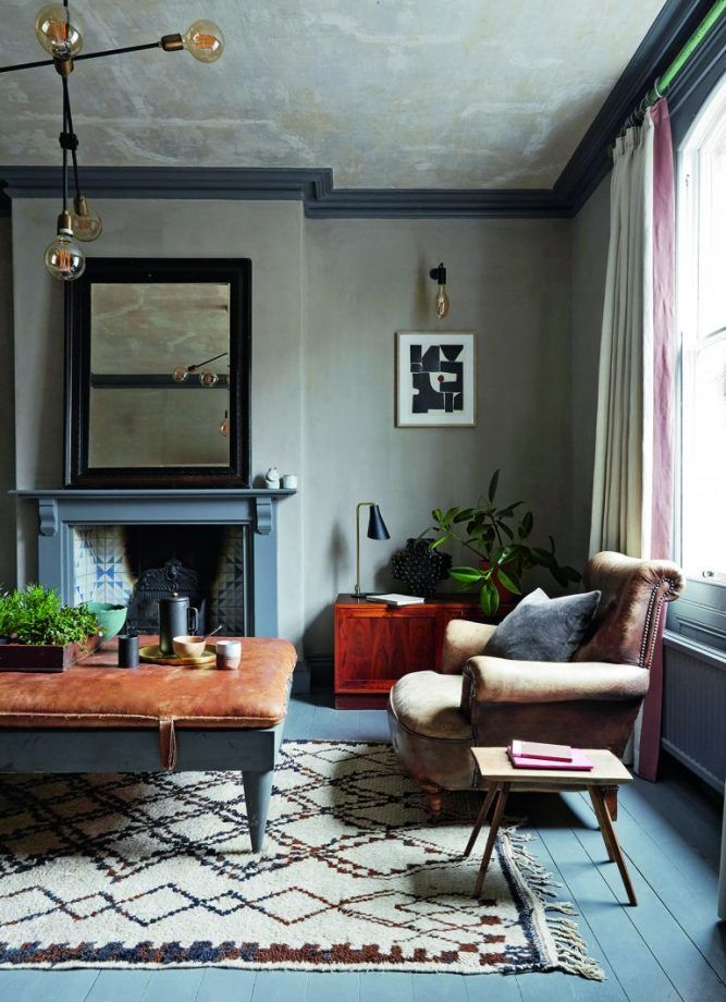 Moody And Dramatic Dark Blue Living Room Ideas And Paint Inspiration