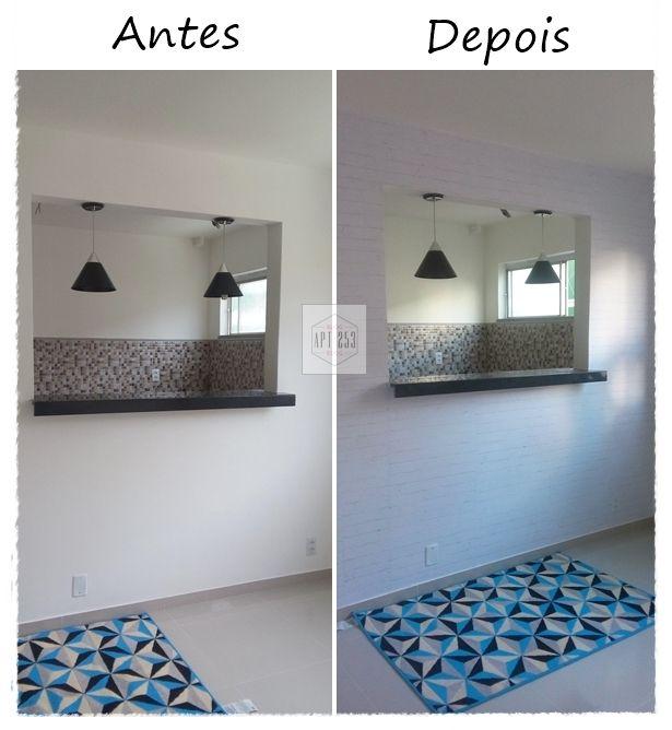 PAREDE DE TIJOLINHOS NA DECORAÇÃO - Apartamento 253