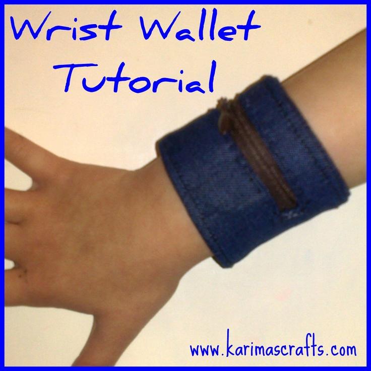 wrist wallet tutorial - make an ID wallet for kids with emergency info inside