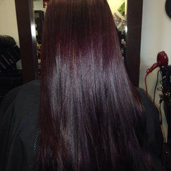 deep violet chocolate brown hair color - Google Search