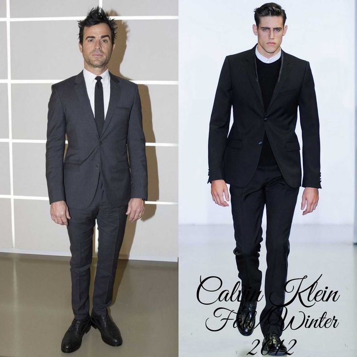 The Derek's Blog: Justin Theroux en Calvin Klein - Calvin Klein Collection Fall/Winter 2013 Show