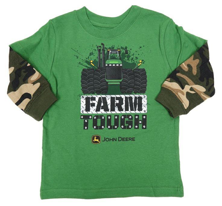 deere farm tough green with camo hang sleeves
