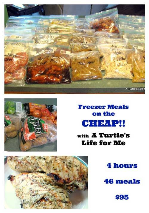 46 Awesome Freezer Meals In 4 Hours For Just $95