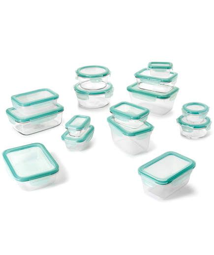 OXO Good Grips 30-Piece Glass Food Storage Container Set | Thanksgiving is approaching and we're already dreaming about those magnificent leftovers… and how to store them.