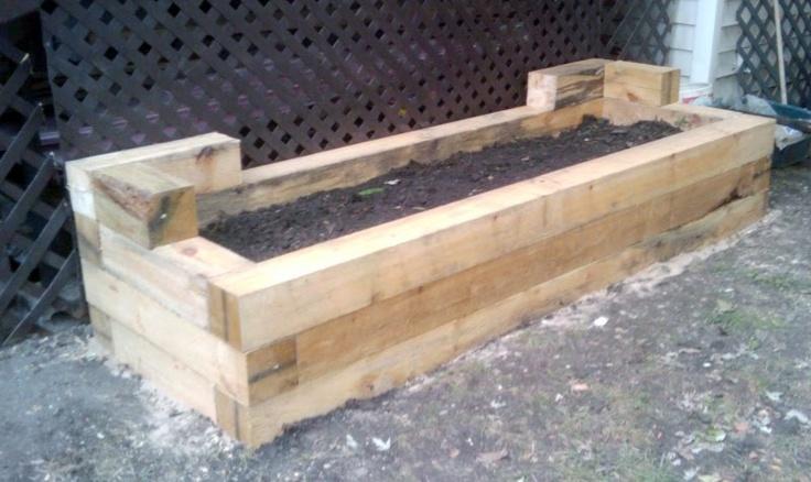 Planter Boxes Using 6x6 Treated Lumber Gardening