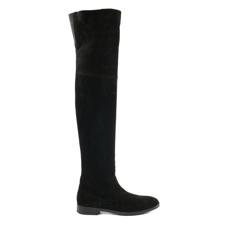 Suede overknee laarzen #overknee laarzen #laarzen #Sacha