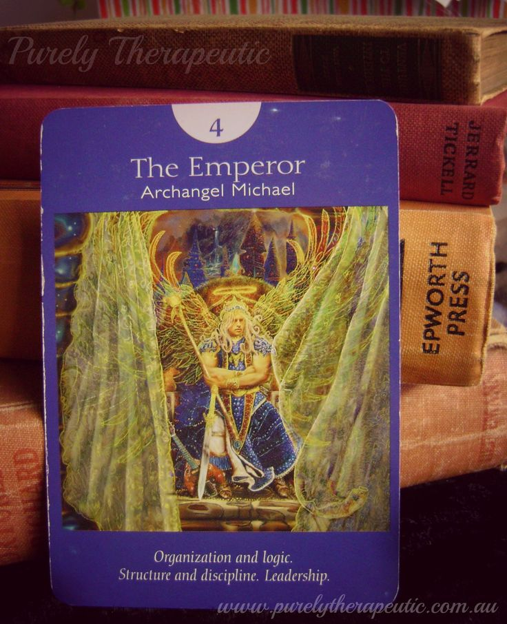 4. THE EMPEROR It's important to cultivate logic, discipline, and order right now. 'Angel Tarot' by Doreen Virtue & Radleigh Valentine Purely Therapeutic ♥ www.purelytherapeutic.com.au https://instagram.com/purelytherapeutic