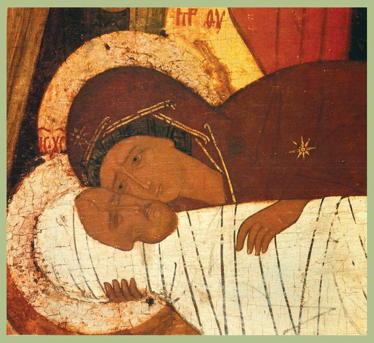 Фрагмент.  Конец  XV в.   Положение во гроб