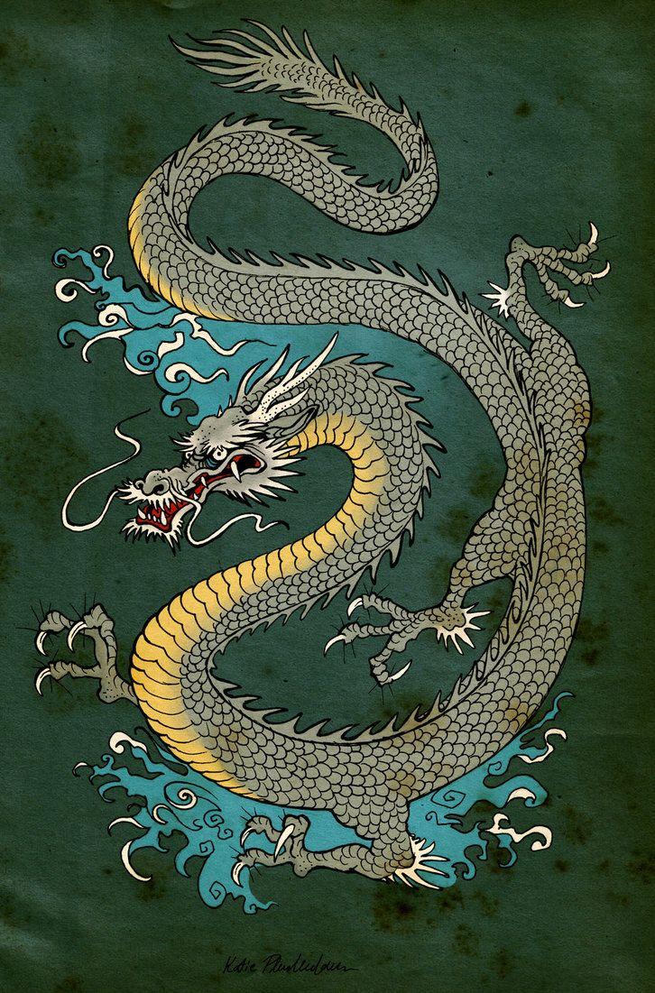 Japanese+Dragon+Art | Japanese Dragon by KatePfeilschiefter