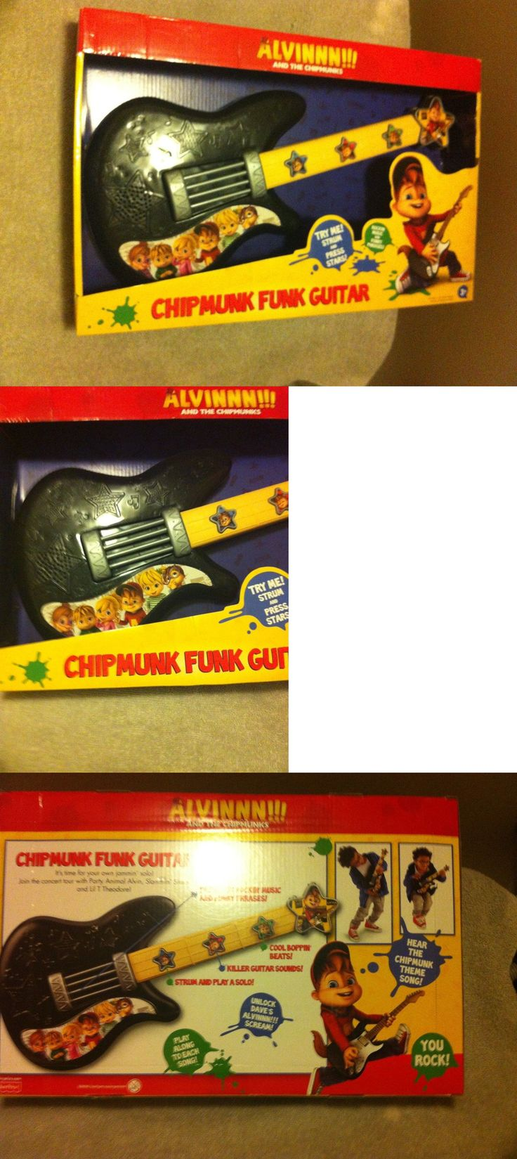 Radios Musical Toys 145943: Alvin And The Chipmunks----Funk Guitar---3+---Fisher Price----Free Ship---New -> BUY IT NOW ONLY: $31.97 on eBay!