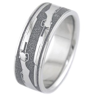 mens titanium shotgun wedding ring - Hunting Wedding Rings