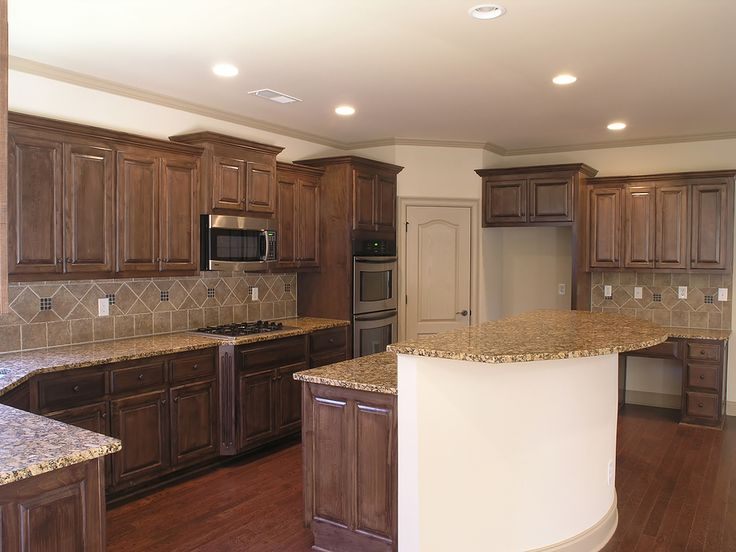 Walnut Kitchen Cabinets Granite Countertops