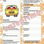 Scheda pratica in pdf da compilare con scadenze di bollo, assicurazione, revisione, ecc per ogni automobile