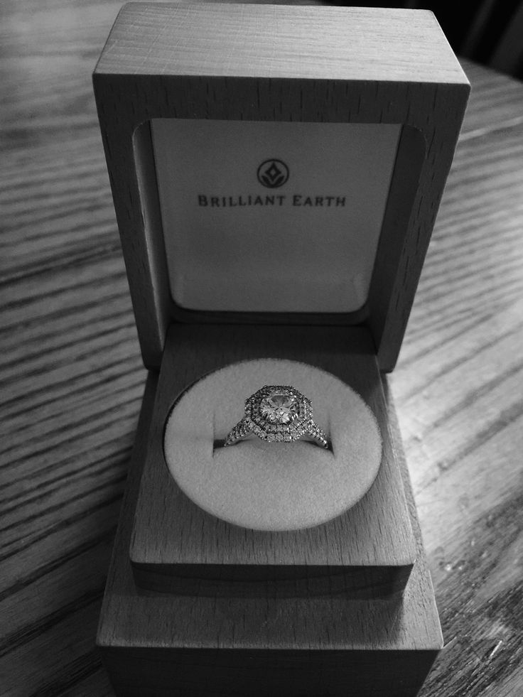 My ring cleaned and in its brilliant earth box