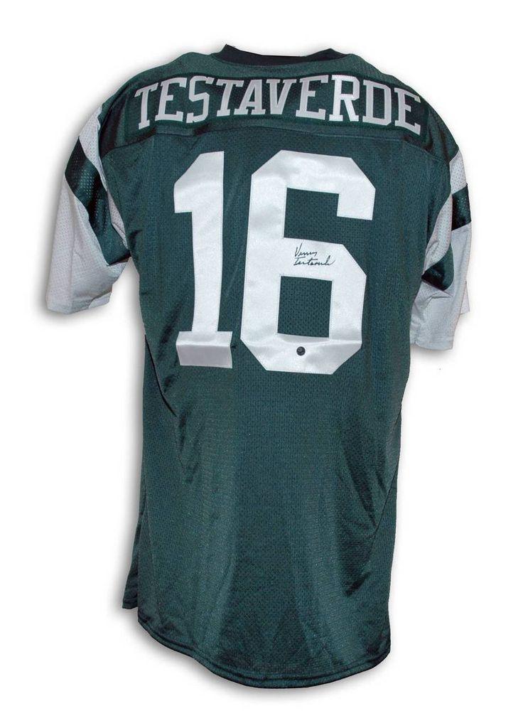 Vinny Testaverde New York Jets Autographed Throwback Jersey