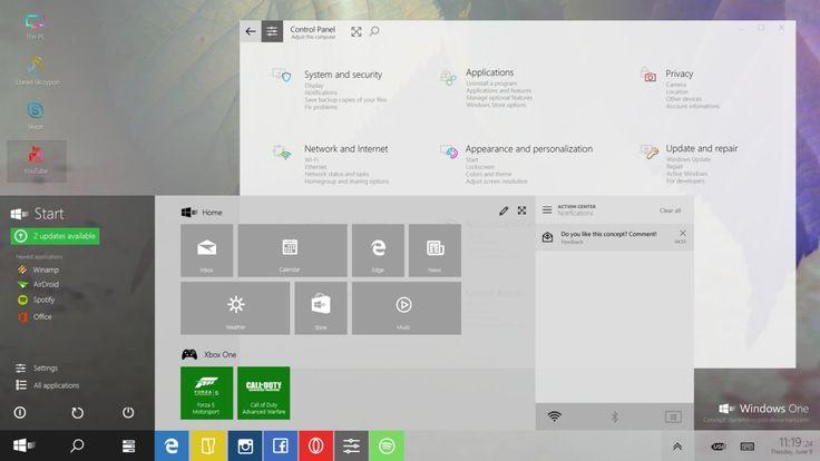 Windows One Concept by danielskrzypon.deviantart.com on @DeviantArt
