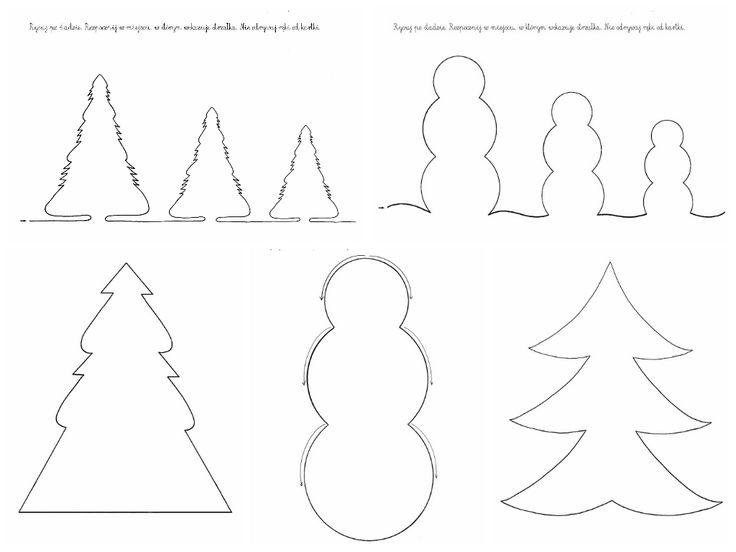 62 best karty pracy przedszkole images on pinterest kindergarten zimowe szablony i karty pracy ccuart Images