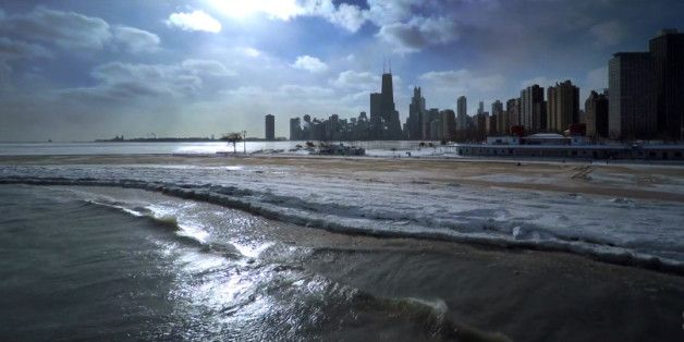 Drone Video Of Frozen Chicago Will Take Your Breath Away