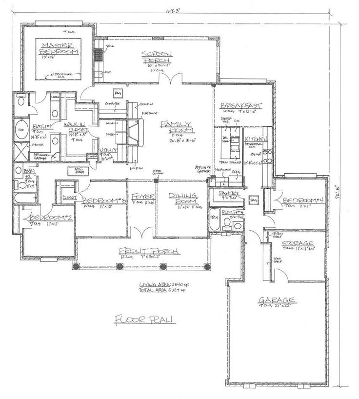 French House Floor Plans
