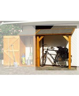 PROMADINO Schleppdach, Schleppdach, aus imprägniertem Kiefernholz, B/T/H: 178/70/188 cm, erweiterbar durch Anbauschrank, Eco Bio