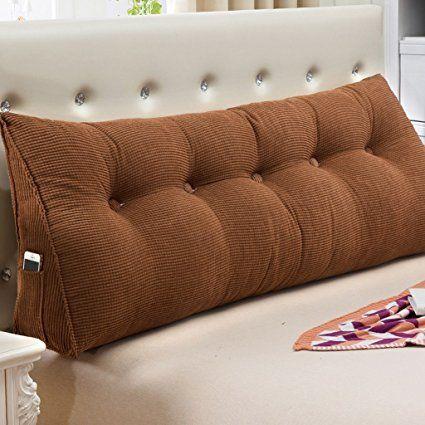 uus Almohada de almohada doble Bedhead Almohada de cojín de triángulo almohadones cómodos Sofá Almohadilla de almohada de almohadilla grande de cama de paquete de respaldo 22 * 50 * 180cm ( Color : H ): Amazon.es: Hogar