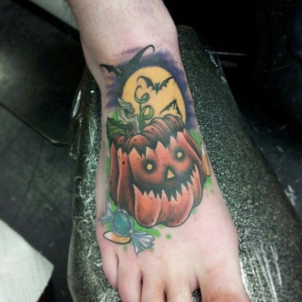 Halloween tattoos | Seasonally Ghoulish and Creative Halloween Tattoos