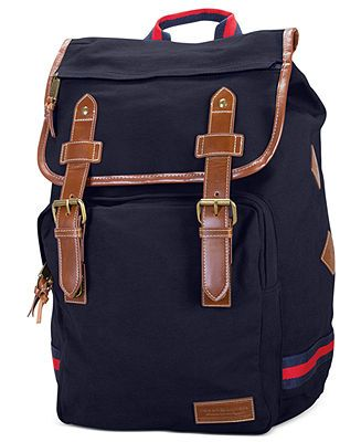 Tommy Hilfiger Bags, Canvas Backpack - Backpacks & Messenger Bags - luggage - Macy's