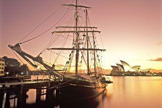 Tall ship dinner cruise