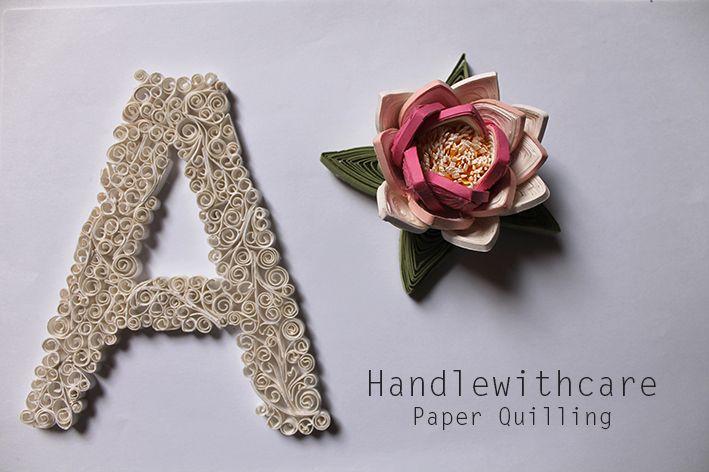 Lotus flower, paper quilling, paper sculpture, fiore di loto, filigrana di carta, sculture di carta