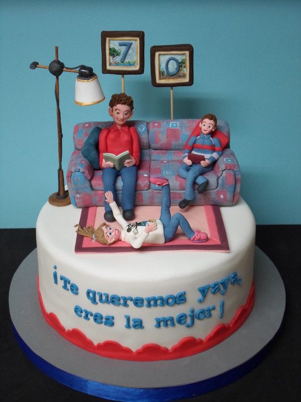 Fondant Cake Design For Husband : 93 best images about couch cakes on Pinterest Cake ideas ...