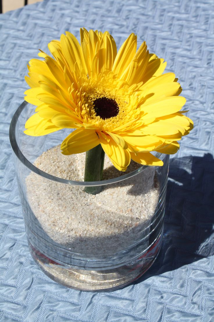 Sunflower centerpiece my children parties pinterest
