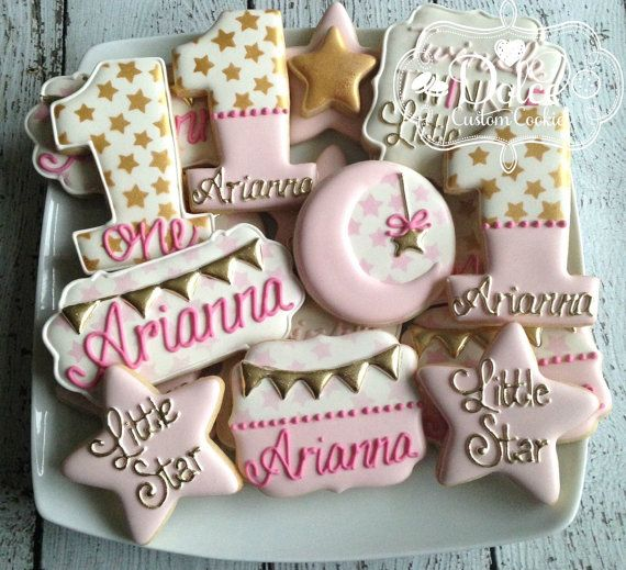 baby shower pink and gold cookies baby girl cookies baby shower