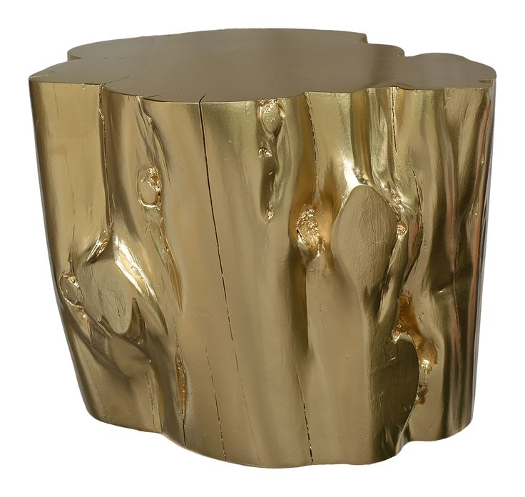 Gold Log Stump Sidetable