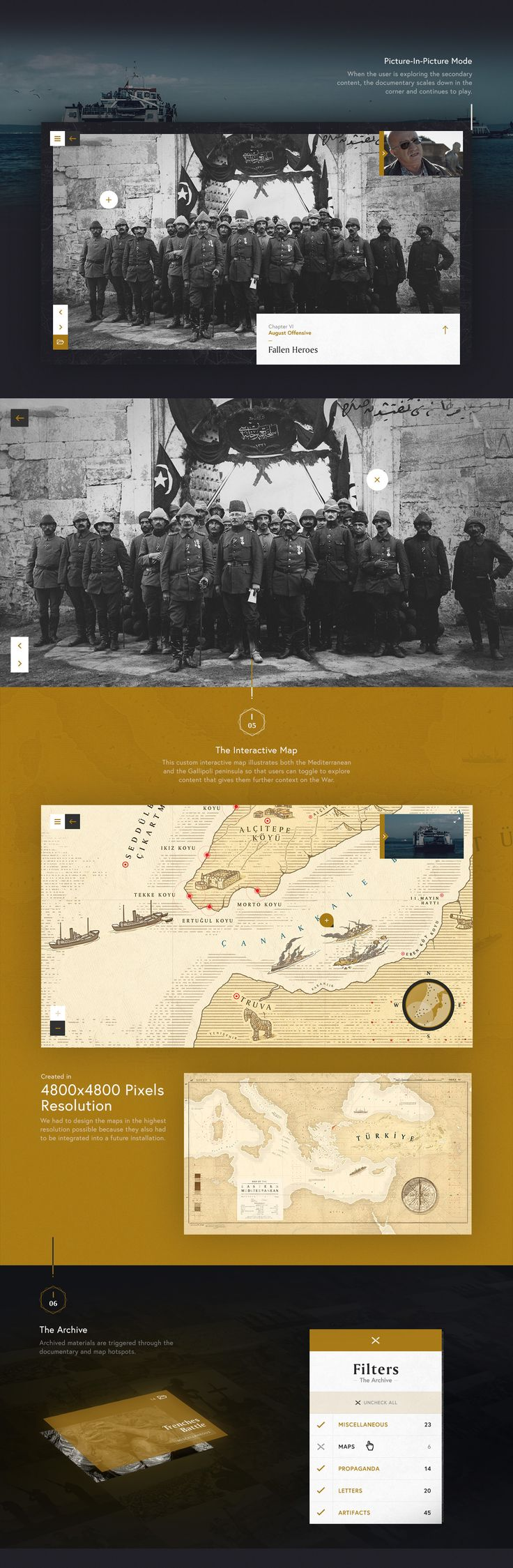 Sons of Gallipoli is a multi-layered, interactive documentary commemorating the 100th anniversary of the WWI Battle of Gallipoli. It follows the stories of two modern-day mothers – one Turkish and one Australian – as they reflect on their sons' legacies. …