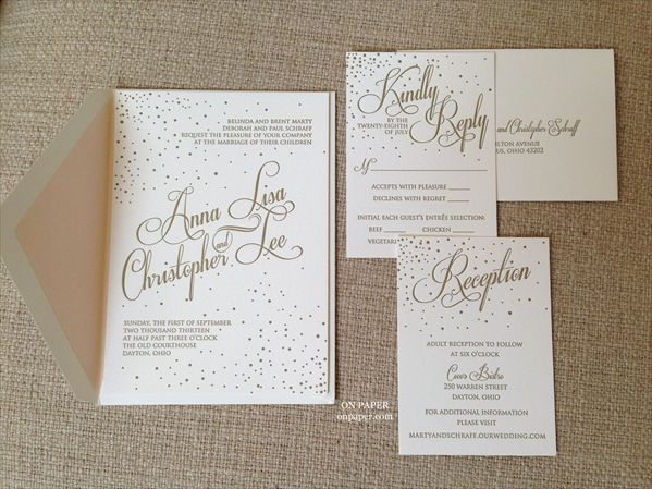 Beautiful Letterpress Invitation! Available At: On Paper   Columbus, Ohio  (614)