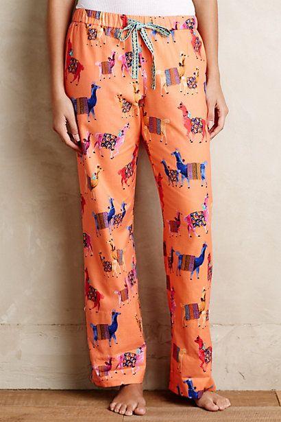 Vicuna Sleep Pants - anthropologie.com- llamas!!!