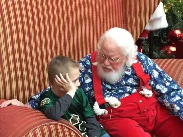 This little boy thought he might be on the naughty list because he has autism. Santa set him straight!