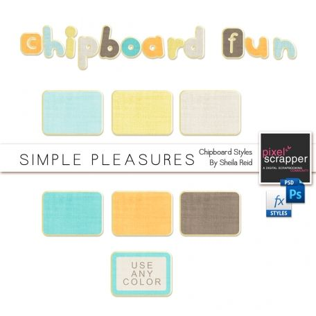 Chipboard Styles Kit - Sheila Reid - Any color works