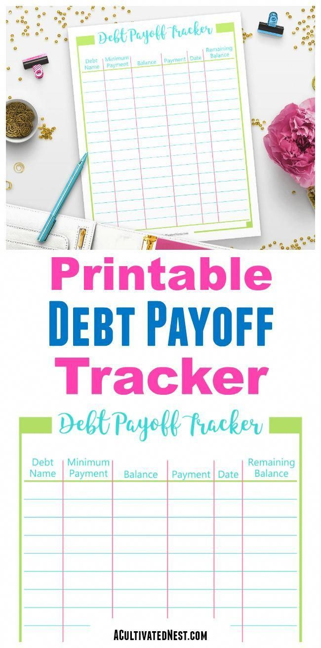 Printable Debt Payoff Tracker With Images Debt Payoff