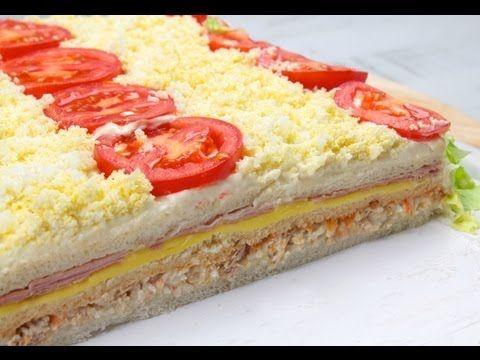 PASTEL SALADO DE VERANO  -  Receta de Pastel de Verano con Mayonesa Ybarra