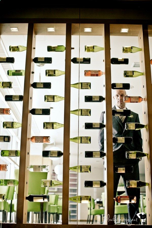 Love this room divider wall - My kind of wine rack x