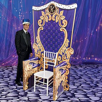 This spectacular Royal Celebration Throne for Him looks like a palace throne for a king that is printed in your color choice.