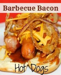 Barbecue Bacon Hot Dogs