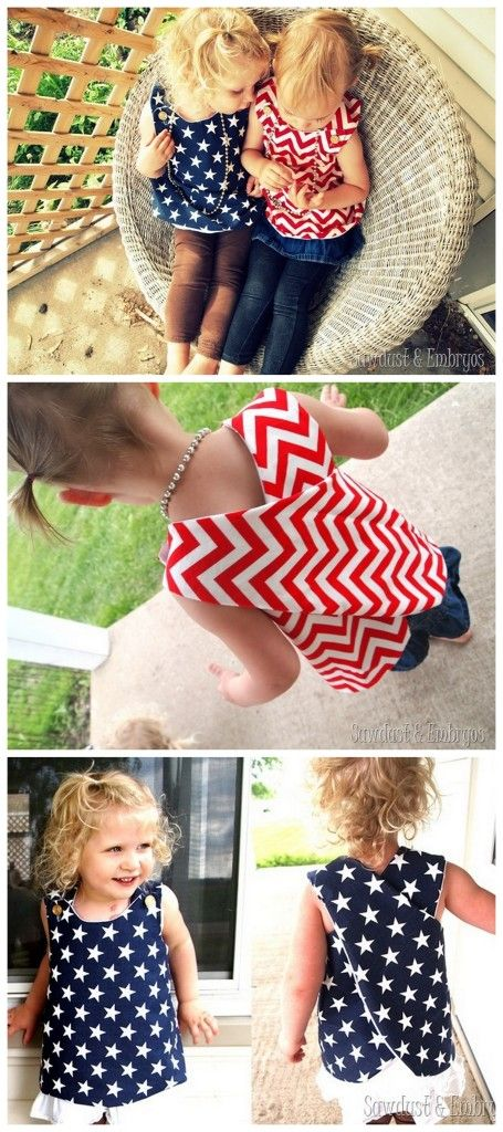 Easy wrap-around tunic with tutorial and free pattern! {Sawdust and Embryos}
